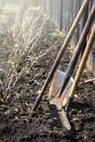 Starzy ogrodowi narzędzia Zdjęcia Royalty Free