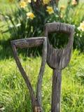 Starzy ogrodowi rydle Obrazy Royalty Free