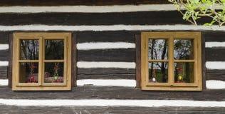 starzy okno Zdjęcia Royalty Free