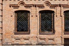 Starzy okno w domu zdjęcia royalty free
