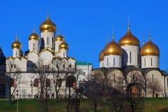 Starzy ortodoksyjni kościół Moskwa Kremlin zdjęcie royalty free