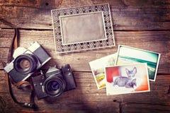 Starzy photograpy przedmioty zdjęcia stock