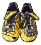 Starzy piłka nożna buty Zdjęcie Royalty Free