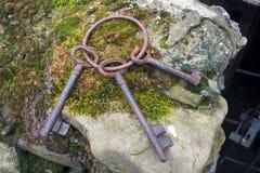 Starzy pomnikowi metali klucze Obraz Stock