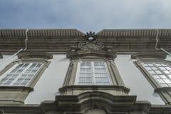 Starzy portuguese budynków okno zdjęcia royalty free