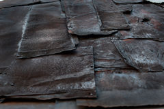 Starzy, rdzewiejący metali prześcieradła, rocznika tło Obraz Royalty Free