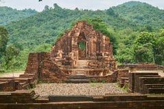 Starzy religijni budynki od Champa imperium - cham kultura W mój synu blisko Hoi, Wietnam (monaster krzyż) Światowego Dziedzictwa Zdjęcie Royalty Free