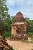 Starzy religijni budynki od Champa imperium - cham kultura W mój synu blisko Hoi, Wietnam (monaster krzyż) Światowego Dziedzictwa Obraz Royalty Free