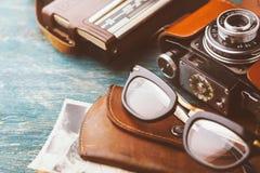 Starzy retro szkła Zdjęcia Stock