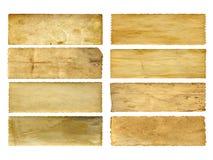 Starzy rocznika papieru sztandary ustawiający Obrazy Royalty Free
