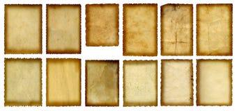 Starzy rocznika papieru sztandary ustawiający Zdjęcia Stock