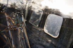 Starzy rowery Zdjęcia Royalty Free