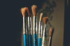 Starzy rzadcy muśnięcia Ciemny minimalizm zdjęcie royalty free