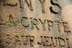 Starzy słowa wpisujący w ścianę Fotografia Royalty Free