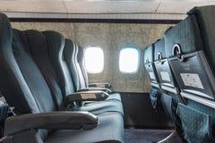 Starzy samolotów siedzenia zdjęcie royalty free