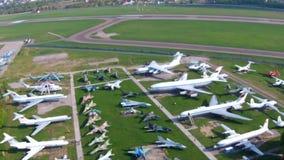 Starzy samoloty przy lotnictwa muzeum w Kijów zbiory