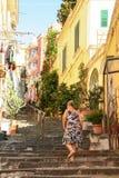 Starzy schodki Petraio w Naples Zdjęcie Royalty Free