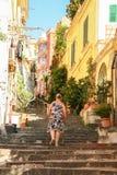 Starzy schodki Petraio w Naples Zdjęcia Stock