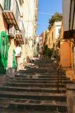 Starzy schodki Petraio w Naples Fotografia Royalty Free