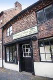 Starzy Sklepowi budynki w targowym miasteczku Sandbach Anglia Zdjęcie Stock