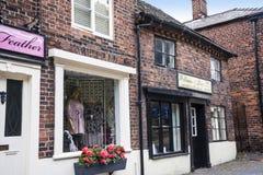 Starzy Sklepowi budynki w targowym miasteczku Sandbach Anglia Obraz Stock