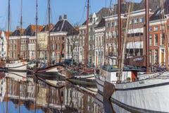 Starzy statki i magazyny w dziejowym centrum Groningen Zdjęcia Stock