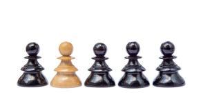Starzy szachowi kawałki zdjęcie royalty free