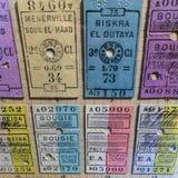 Starzy taborowi bilety przy Niemieckim muzeum technologia Deutsche Techn obrazy stock