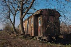 STARZY TABOROWI furgonu, pociągu wraki/ Obrazy Royalty Free