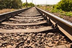 Starzy tajni agenci na linii kolejowej Zdjęcia Stock