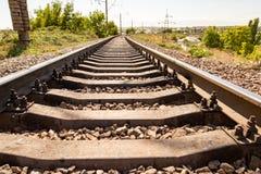 Starzy tajni agenci na linii kolejowej Obraz Royalty Free