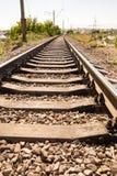 Starzy tajni agenci na linii kolejowej Fotografia Royalty Free