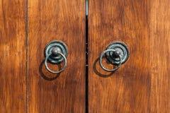 Starzy tekowi drzwi Obraz Stock