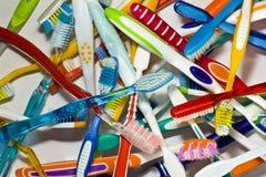 Starzy toothbrushes Obrazy Stock