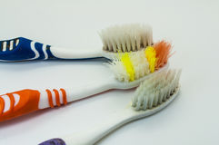 starzy toothbrushes fotografia stock