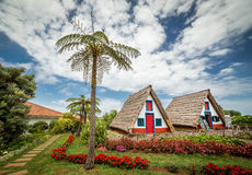 Starzy tradycyjni domy na maderze Fotografia Stock