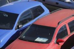 Starzy używać samochody zdjęcie royalty free