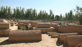 Starzy Uyghur grobowowie w Kashgar Obrazy Royalty Free