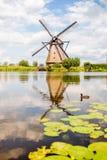 Starzy wiatraczki w holandiach Obraz Royalty Free