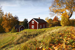 Starzy wiejscy krajobrazu i jesieni kolory fotografia stock