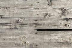 Starzy Wietrzejący Przegnili Krakingowi Supłający Floorboards Nawierzchniowy Textur Zdjęcie Royalty Free