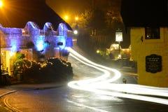 Starzy wioski i światła ślada zdjęcie royalty free