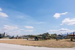 Starzy wojskowych samoloty Fotografia Royalty Free