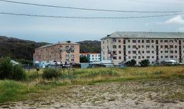 Starzy zaniechani domy w wiosce zdjęcie royalty free