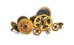 Starzy zegarów koła tła pojęcia odosobniony przedmiota czas biel Zdjęcia Stock