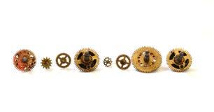 Starzy zegarów koła tła pojęcia odosobniony przedmiota czas biel Obrazy Royalty Free
