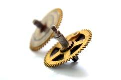 Starzy zegarów koła tła pojęcia odosobniony przedmiota czas biel Zdjęcie Stock