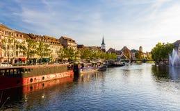 Stasbourg met de Zieke rivier - Frankrijk Royalty-vrije Stock Foto