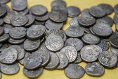 Stash старых кельтских монеток Стоковое Изображение