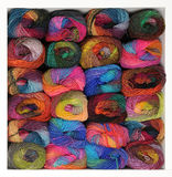 Stash of colorful knitting yarn Stock Image